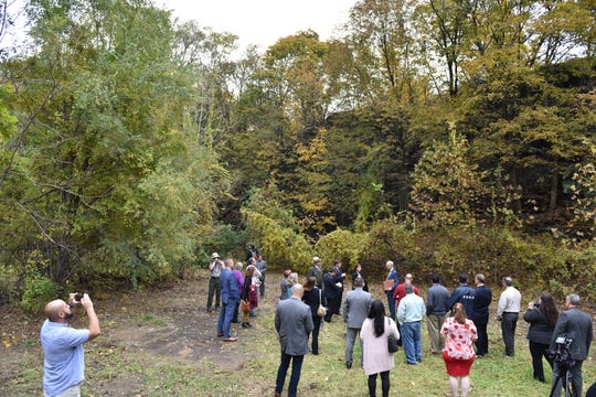 A tour was given of the Quarry Lawn project, which runs along the Passaic River near the Paterson Great Falls National Park in Paterson on Friday morning November 2, 2018.