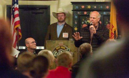 Steve Pearce, speaking during a gubernatorial campaign event on Thursday, Nov. 1, 2018, at La Posta Restaurant, is now chairman of the state Republican Party.