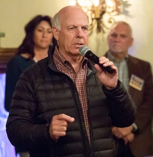 Steve Pearce, who is running in the gubernatorial election, speaks on Thursday, Nov. 1, 2018, at La Posta Restaurant during his final appearance in Las Cruces before Tuesday's Election Day.