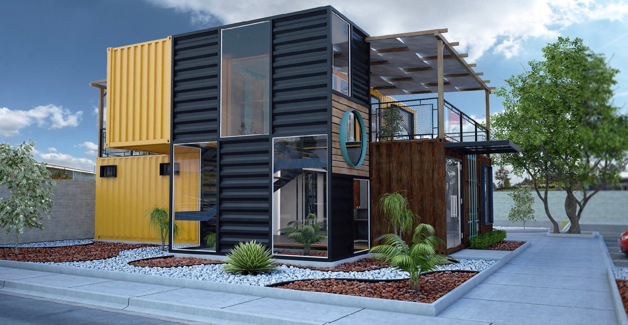 Shipping container office building Used Housing Why This Las Cruces Realtor Is Building Her New Office Out Of Old Shipping Containers Behance Las Cruces Realtor Building New Office Out Of Old Shipping Containers