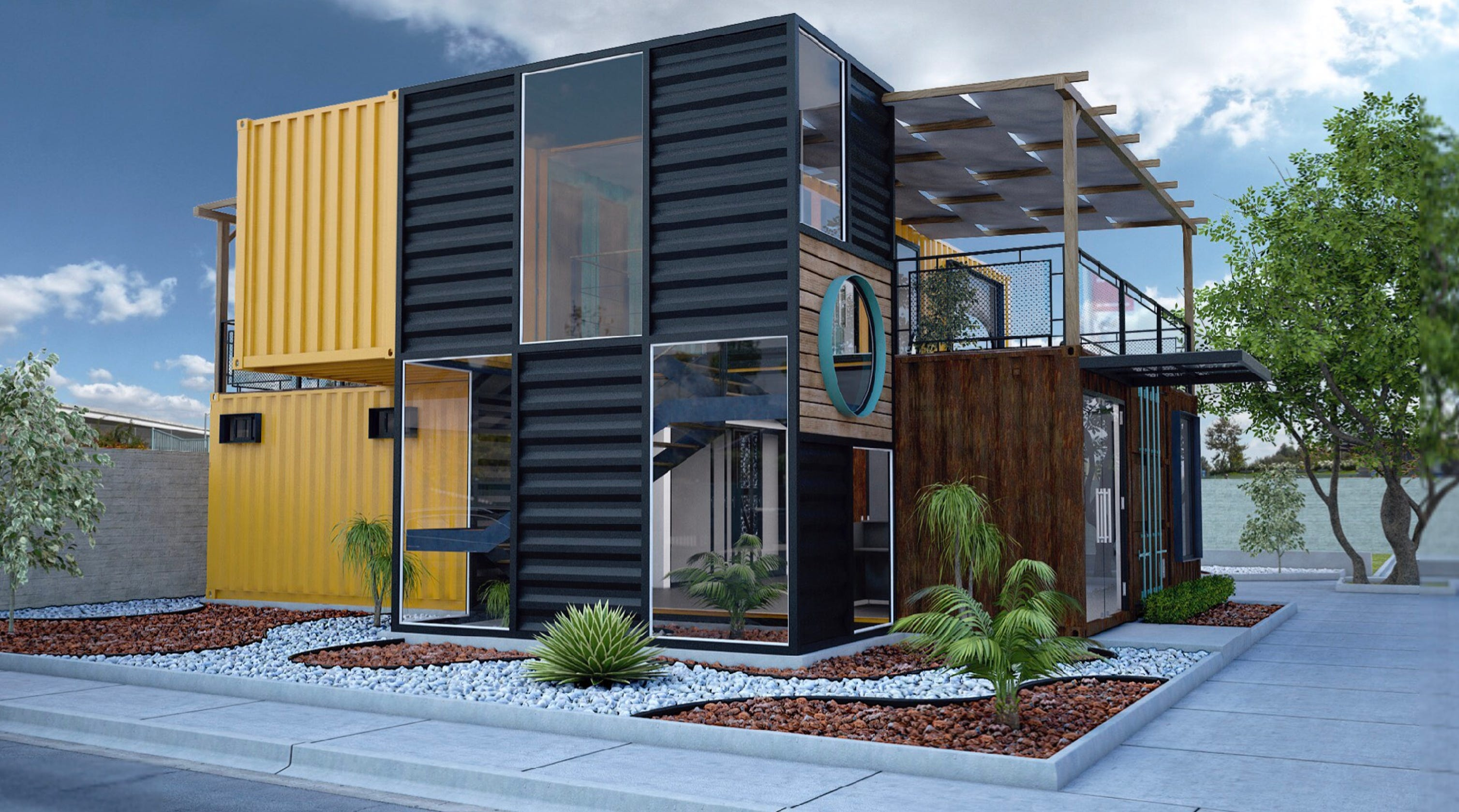 House Built With Shipping Containers In Guadalajara Jalisco: Las Cruces Realtor Building New Office Out Of Old Shipping