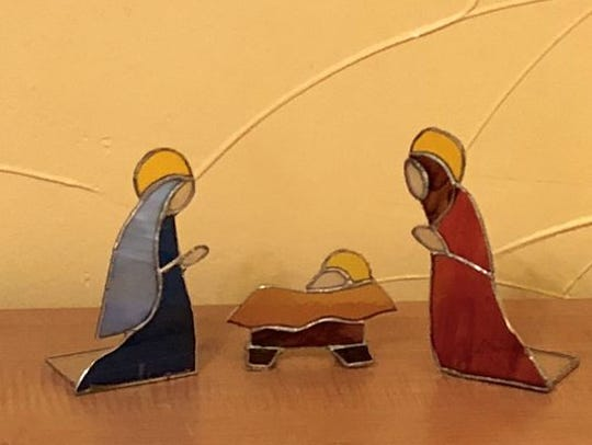 A stained glass creche was part of last year's display.