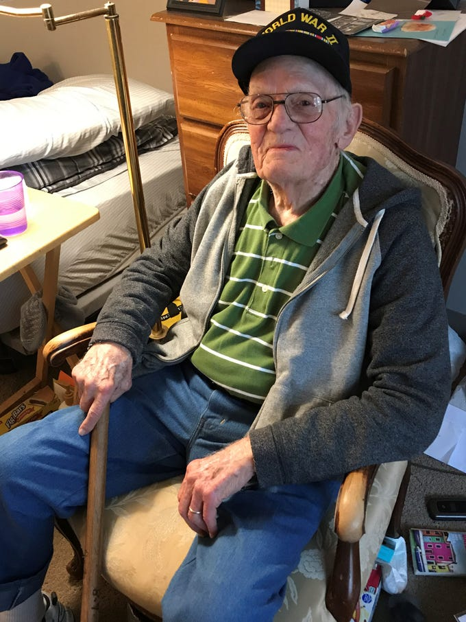 Every day is another chance for Eugene McDonald to walk around Westland's American House. He uses a wooden cane instead of a walker because it helps him better use his muscles.