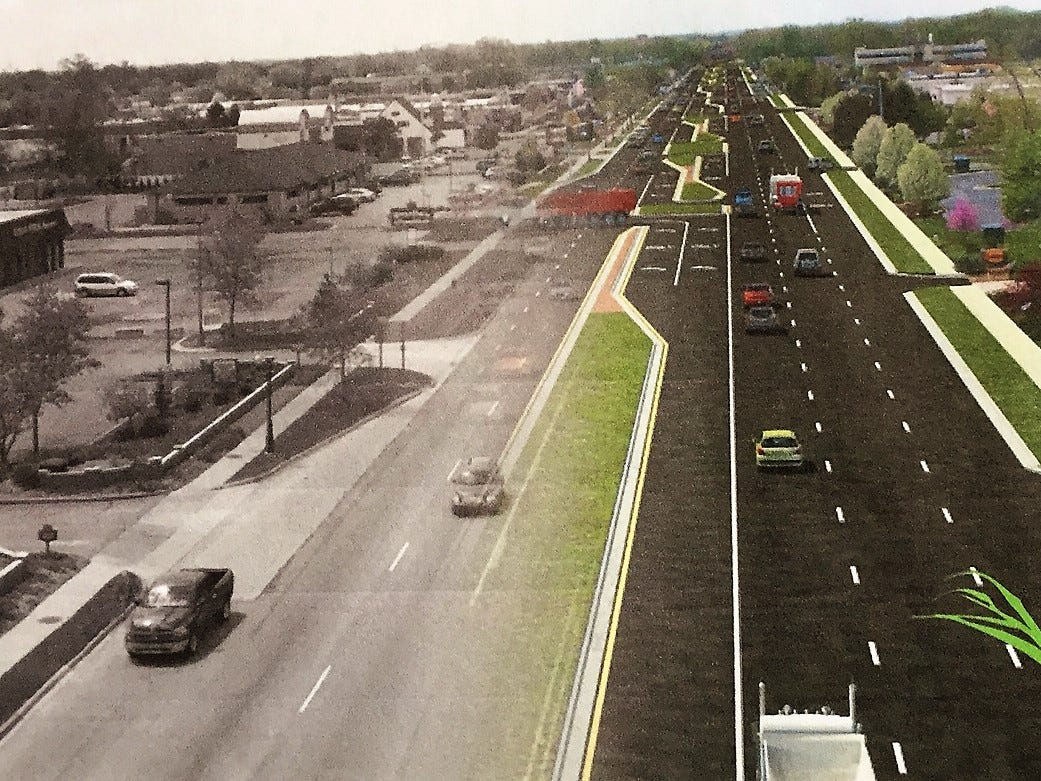 Here's what the Ford Road boulevard plan in Canton could look like