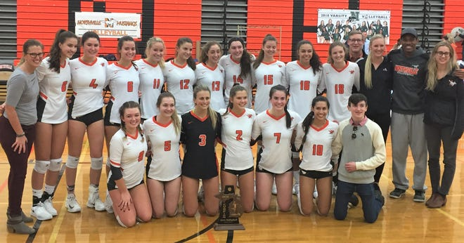 The state-ranked Northville girls volleyball team captured their first district title since 2013.