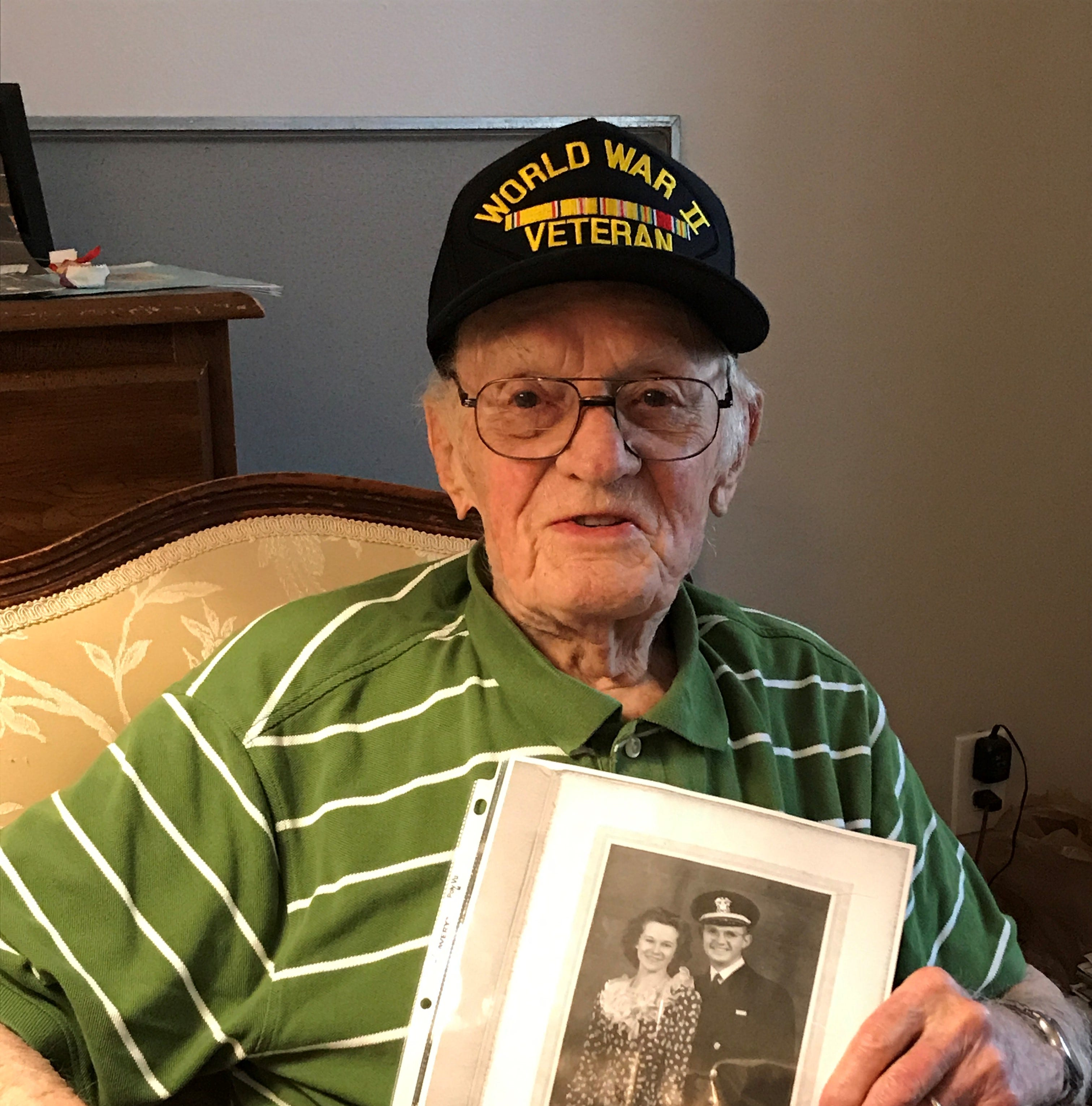 Stick your hand out and say 'Thank you for your service' to WWII veteran, 98