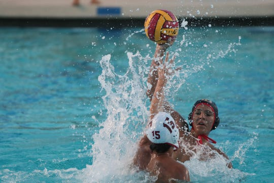 Palm Desert water polo defeats Savanna High School in a second-round playoff game, Palm Desert, Calif., Thursday, November 1, 2018.