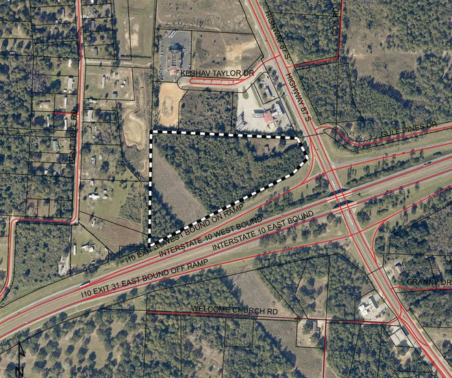 RP Ventures, a Nevada developer, has submitted plans to convert nearly 14 acres on State Road 87 in Santa Rosa County into a truck stop, gas station and restaurants.