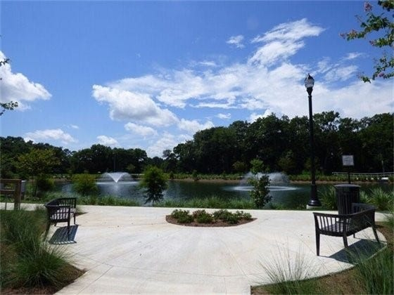 Bill Gregory Park features a new 2.5-acre stormwater treatment pond and walking trail.