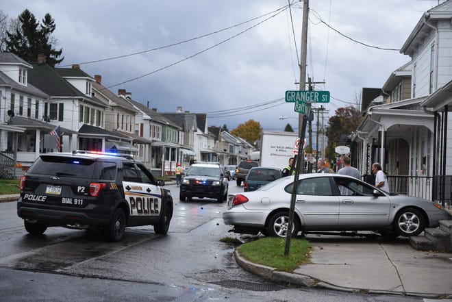 A two-vehicle, no-injury accident at Granger and Baltimore streets on Nov. 2 in Penn Township.