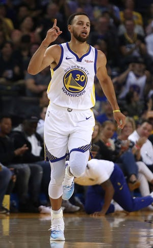 Golden State guard Stephen Curry is averaging 33 points per game while shooting 52.9 percent from three.