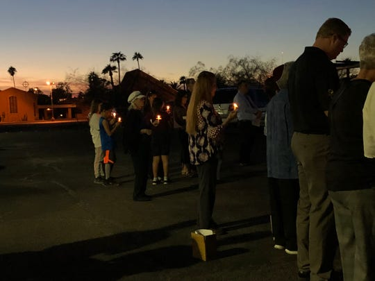 The community of Sun City comes together Thursday evening to hold a vigil to remember the 11 people killed in a shooting at a Pittsburgh synagogue on Saturday.