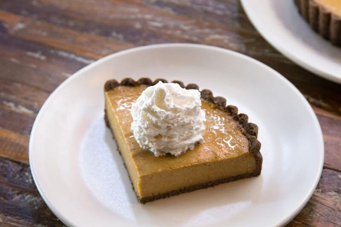 True Food Kitchen's squash pie is a – vegan and gluten-free option that's available for pre-order for $25.