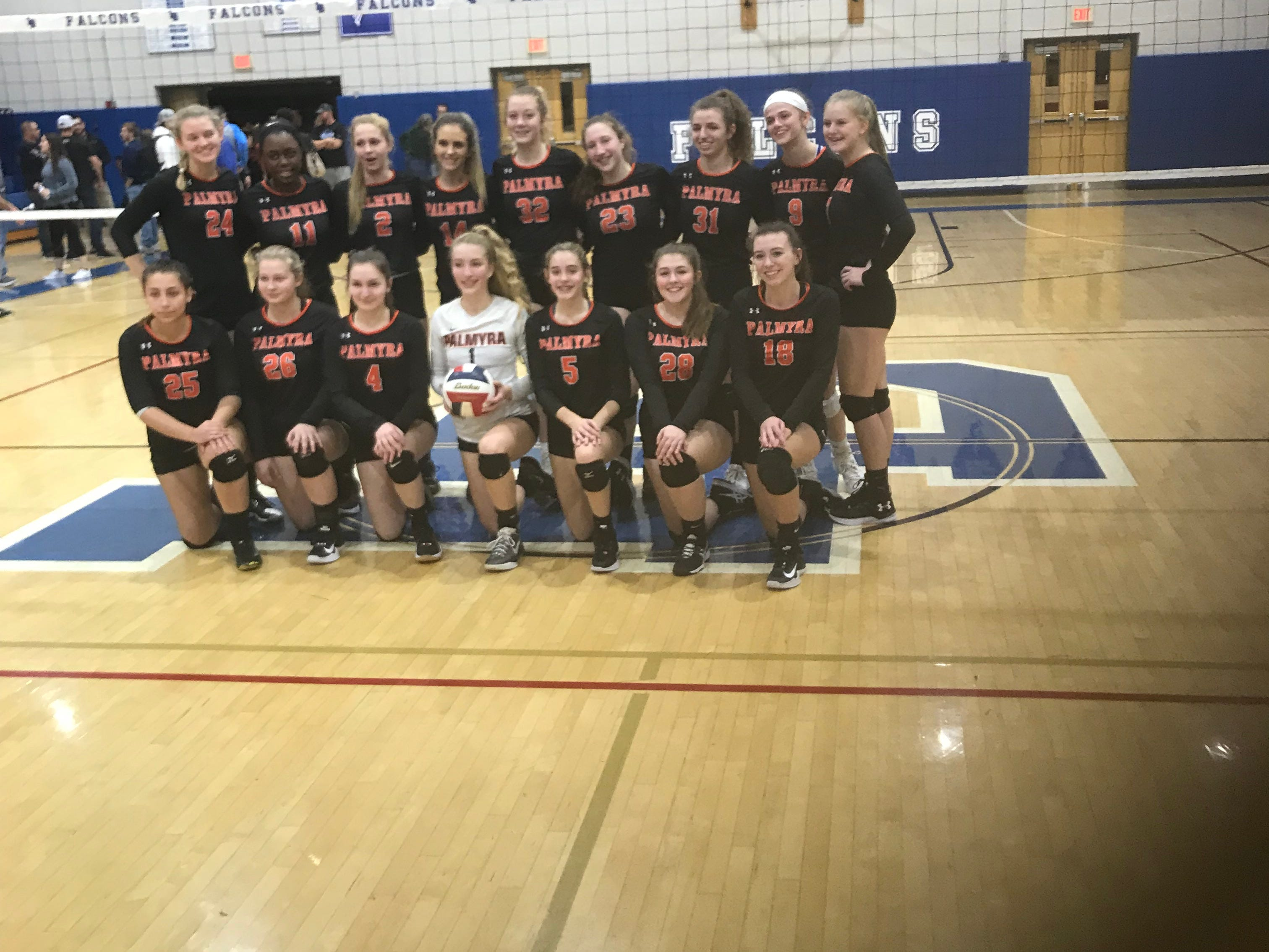 Palmyra girls volleyball headed back to district title game