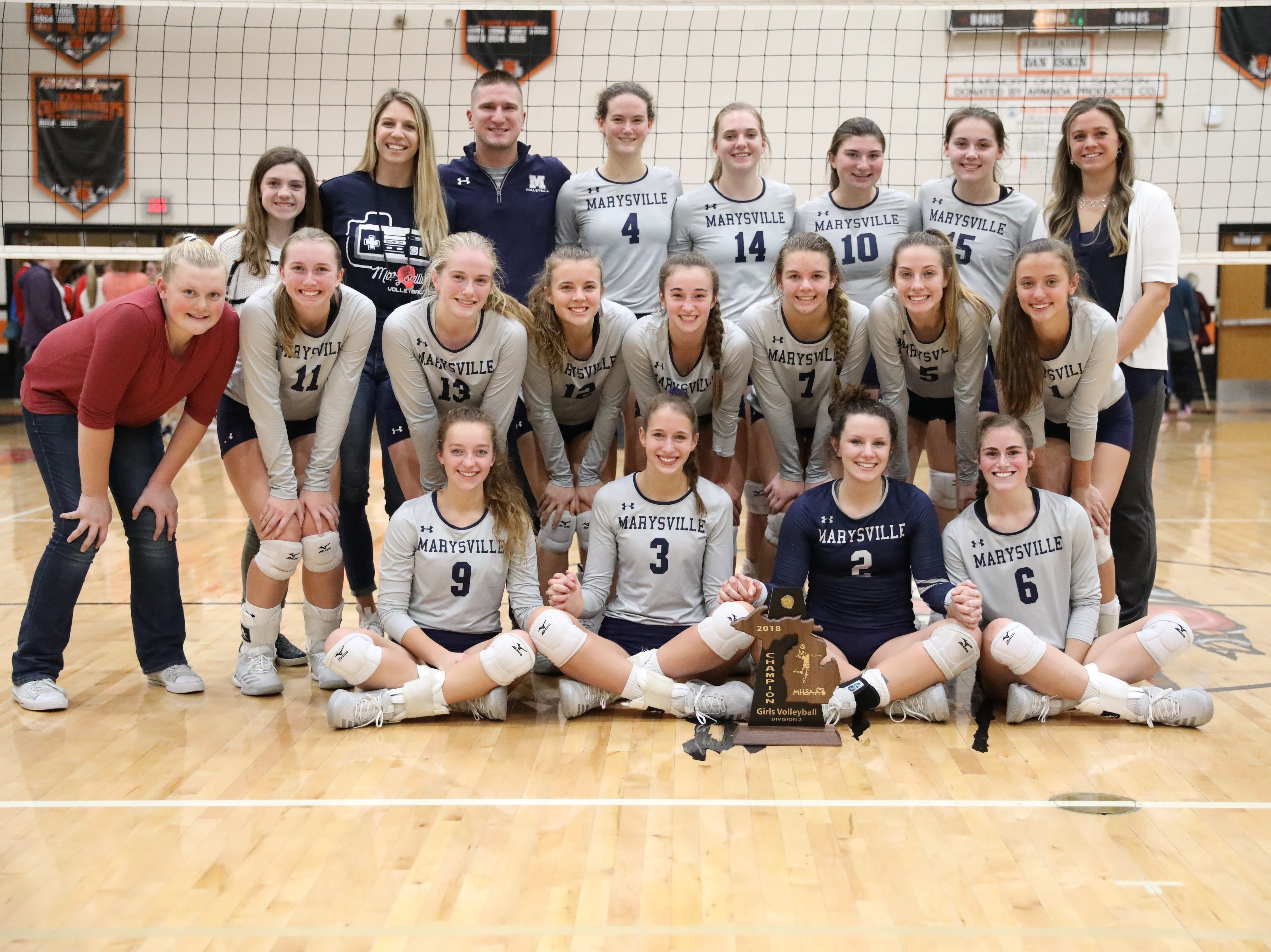 District Volleyball: Marysville claims Division 2 title