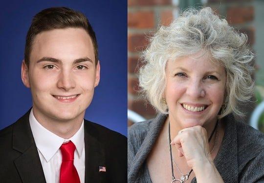 Dutchess County Legislator William Truitt, left, and Assemblywoman Didi Barrett, right.