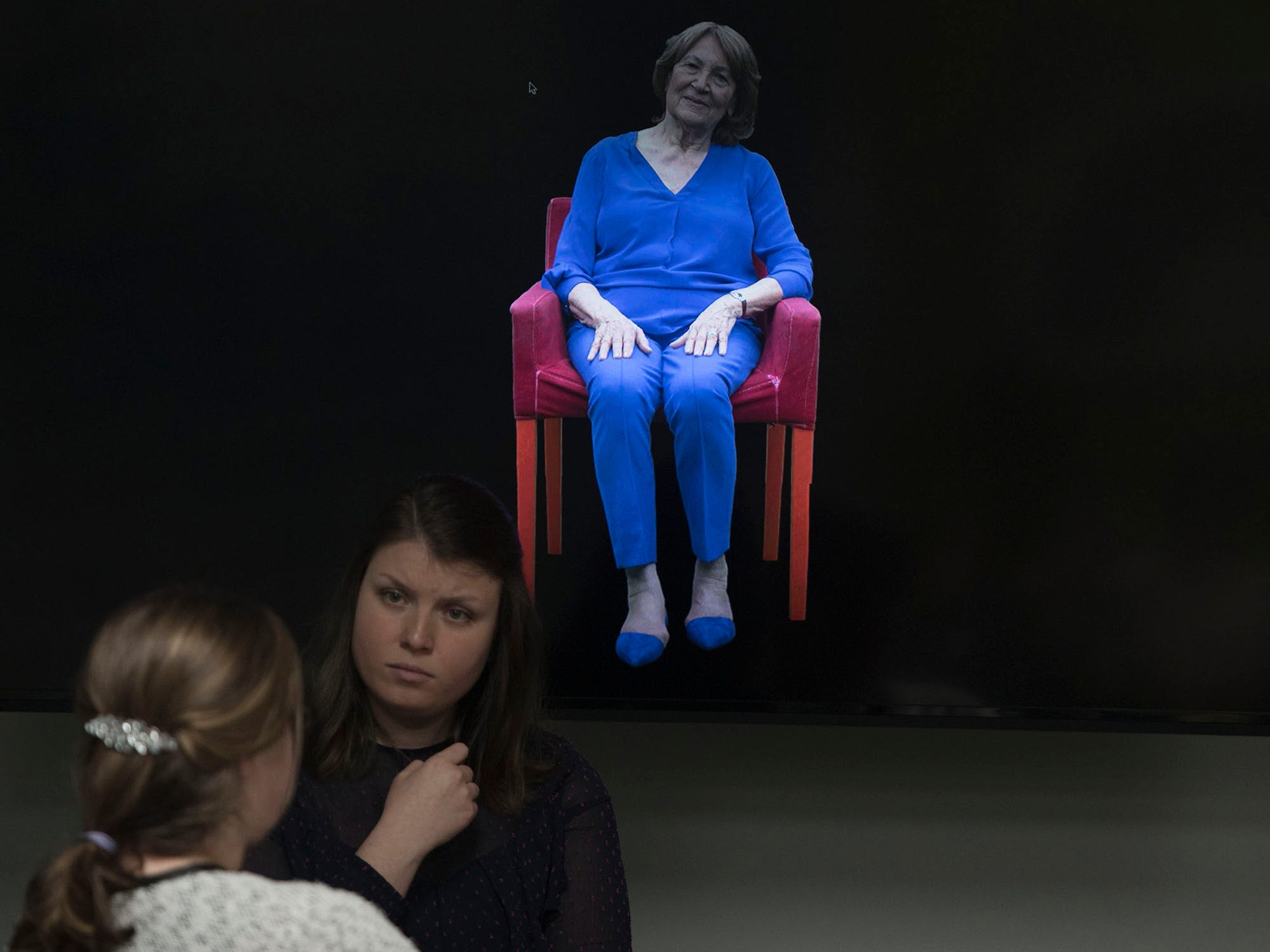 Magda Brown appears as a hologram at the Holocaust Center of Pittsburgh.  A gunman entered the Tree of Life Congregation Synagogue in the Squirrel Hill neighborhood of Pittsburgh and opened fire on the congregants and engaged police, Saturday morning, according to officials. (Markell DeLoatch, Public Opinion/via USA Today Network)