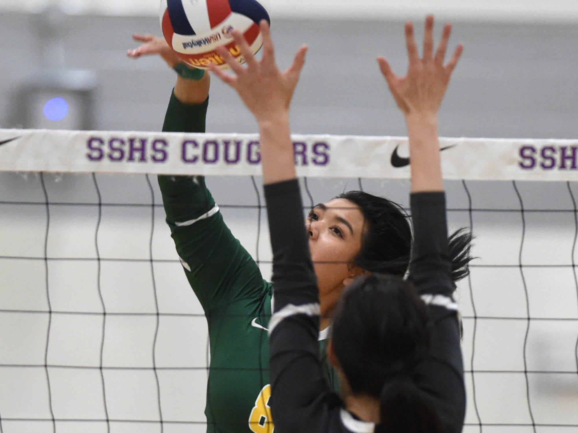 Photos from the volleyball regional semifinals at Spanish Springs High on Friday Nov. 1, 2018. Schools include Spanish Springs, Bishop Manogue, Damonte Ranch and Reno.