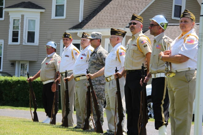 Members of the Hamlin VFW's honor guard during their Memorial Day ceremony in May 2018.