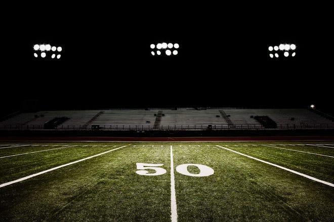 Football under the lights.
