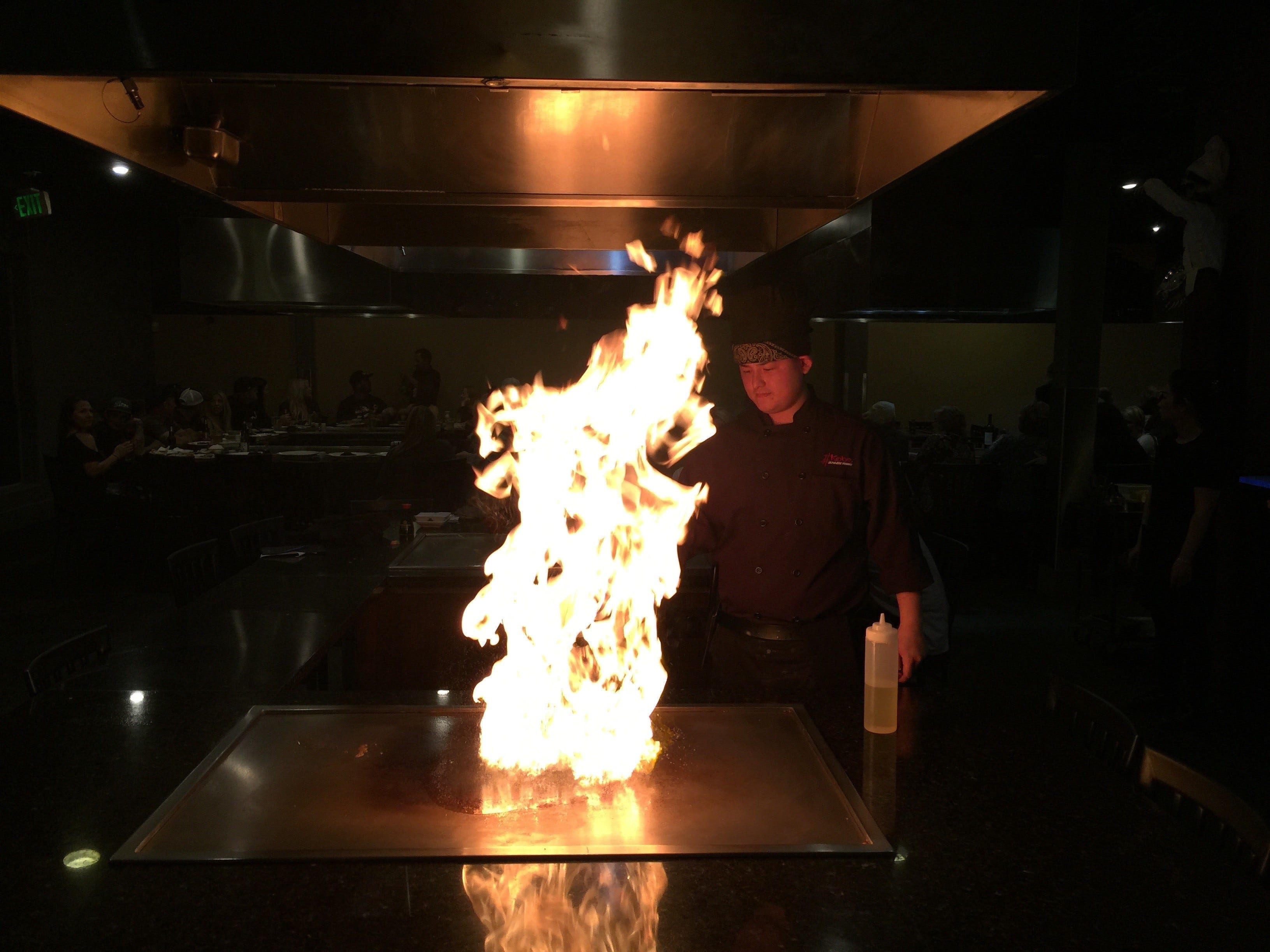 Teppanyaki chef Lance Saechao at Kobe Steak and Seafood in downtown Redding.