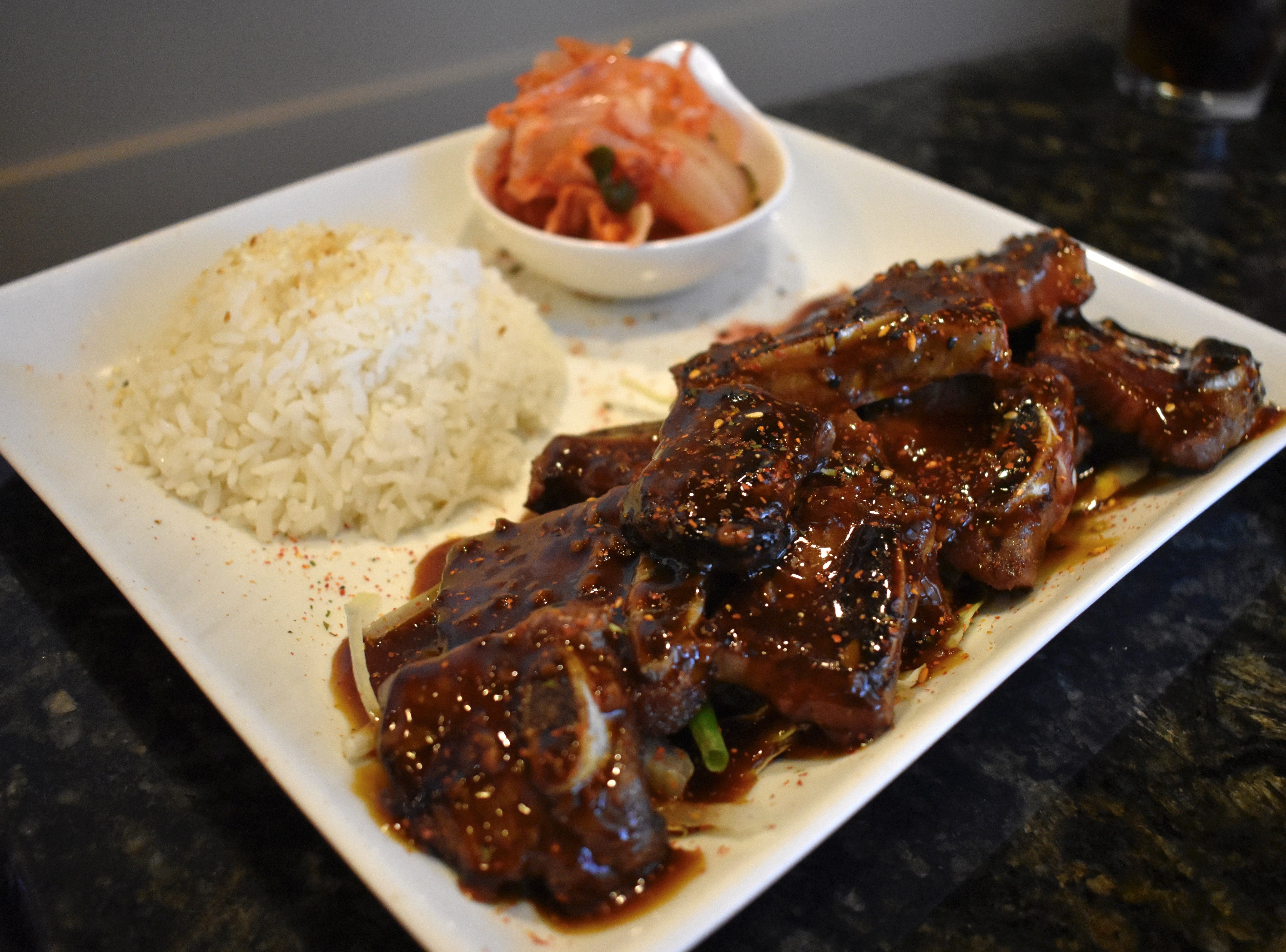 The Korean kalbi (barbecue ribs) at Kobe Steak and Seafood in Redding.