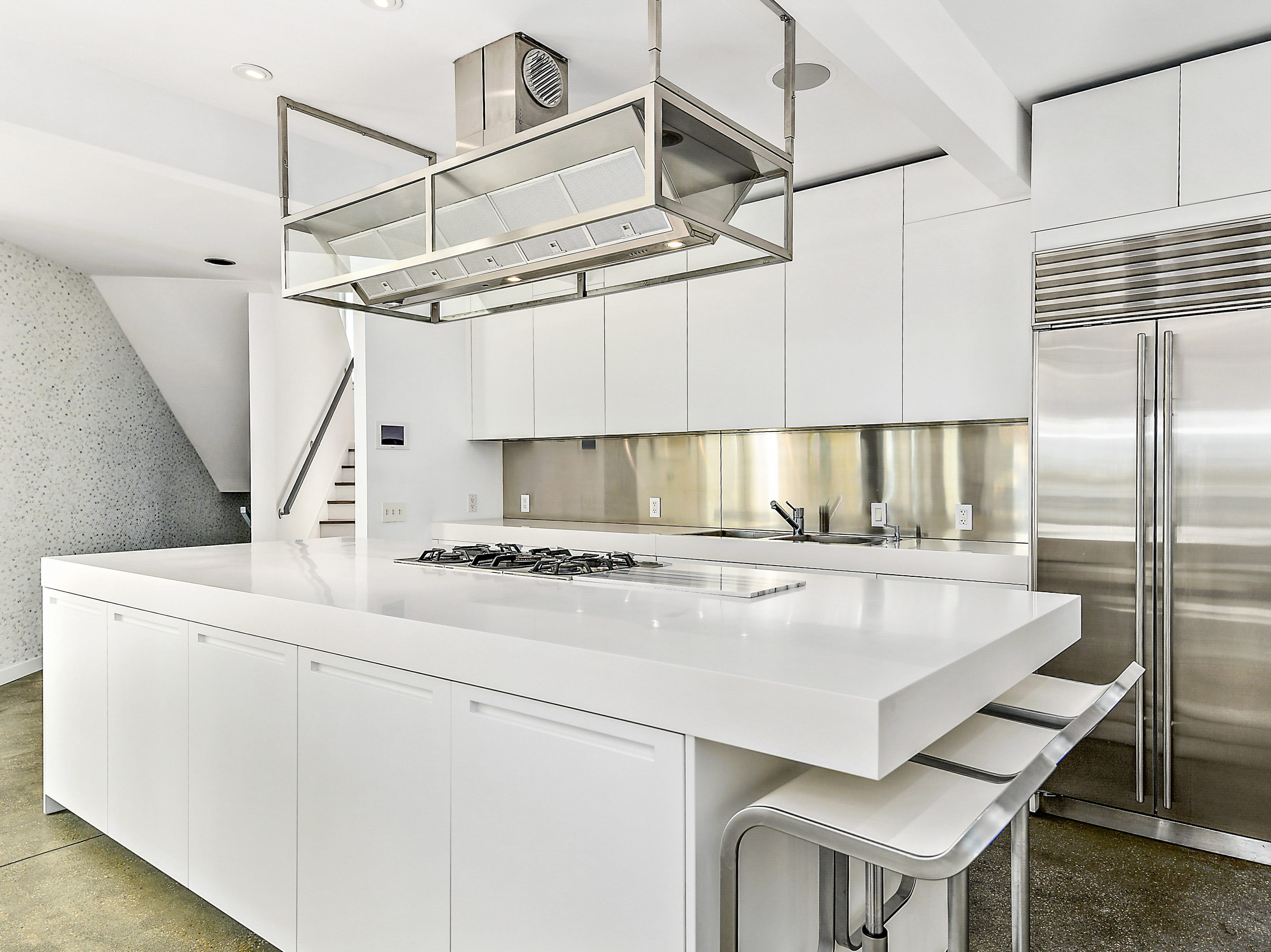 The kitchen of a five-bedroom home on Old Bridge Road in Ocean City that is listed for $3.6 million.