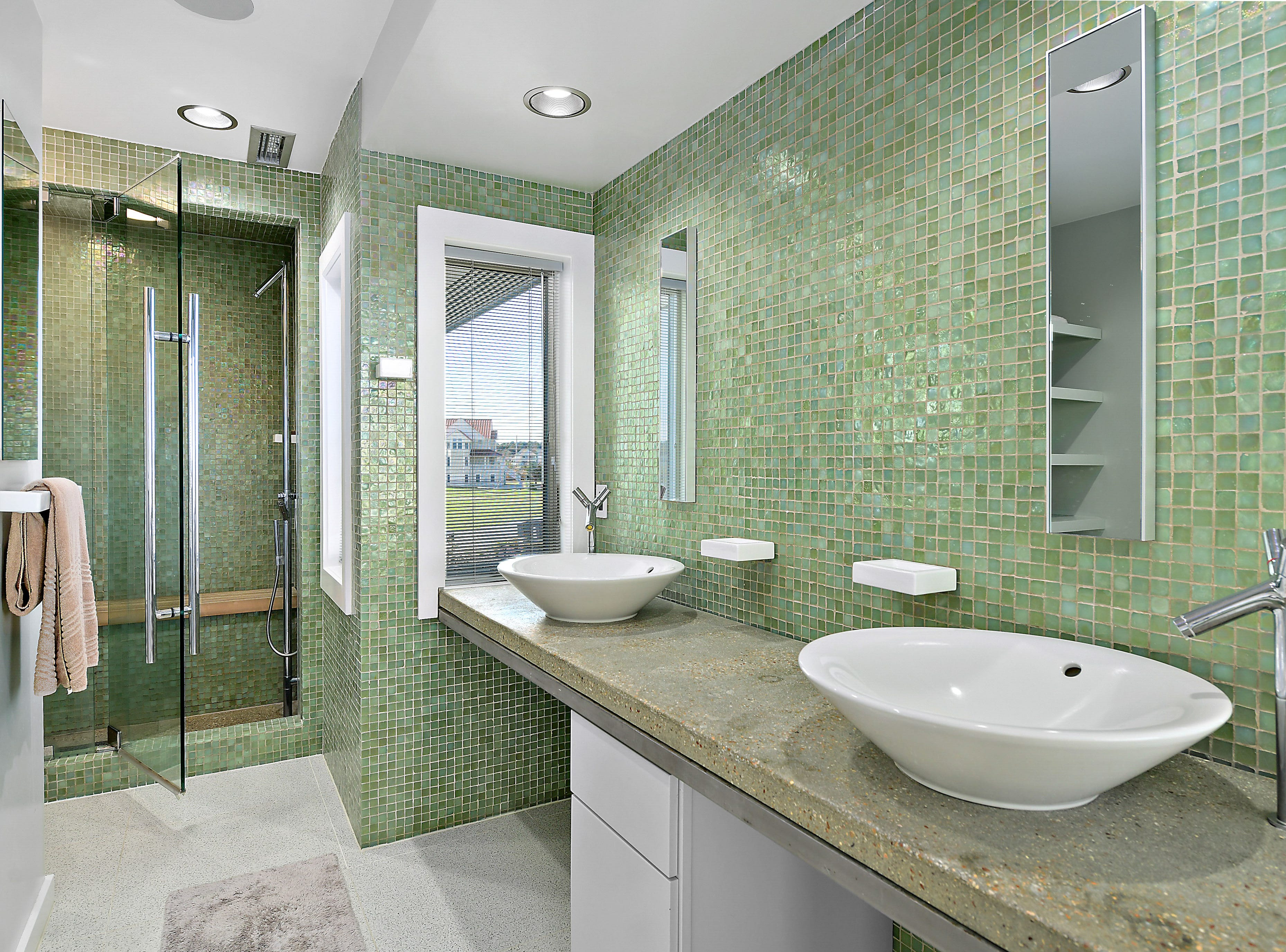 A bathroom in a five-bedroom home on Old Bridge Road in Ocean City that is listed for $3.6 million.