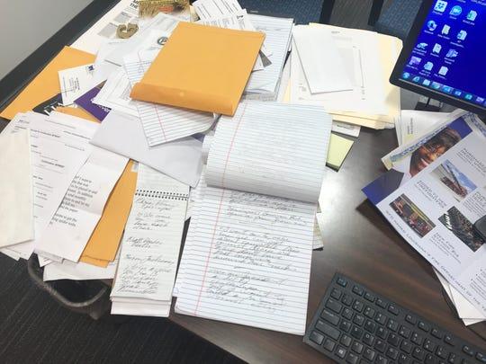 Jeff Gauger's desk just before the Nov. 6, 2018 election.