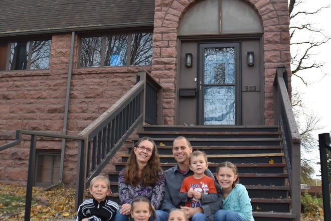 Andy and Megan Wright's family lives in a former church in Dell Rapids, while he serves as pastor of River Community Church.