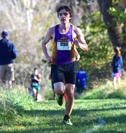 Waynesboro's Jacob Robeck finished 13th in the boys race at the VHSL Region 3C Cross Country Championships on Thursday, Nov. 1, 2018, at Pleasant Grove Park in Palmyra, Va. Robeck qualified for the state meet as an individual with his finish