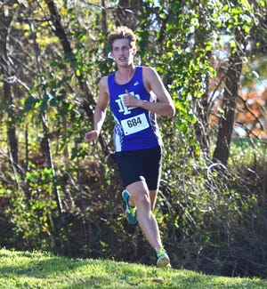 Fort Defiance's Jacob Jonesfinished sixth in the boys race at the VHSL Region 3C Cross Country Championships on Thursday, Nov. 1, 2018, at Pleasant Grove Park in Palmyra, Va. The Indians finished third as a team to qualify for the state meet.