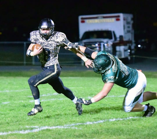 Carter Rivenburg has rushed for 2,640 yards this season heading into Friday's playoff game at East Rockingham.