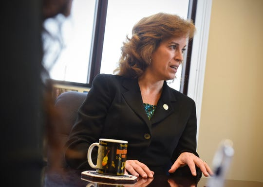 Stearns County Attorney Janelle Kendall talk about the Stearns County Domestic Violence Court during an interview Friday, Nov. 2, in St. Cloud.