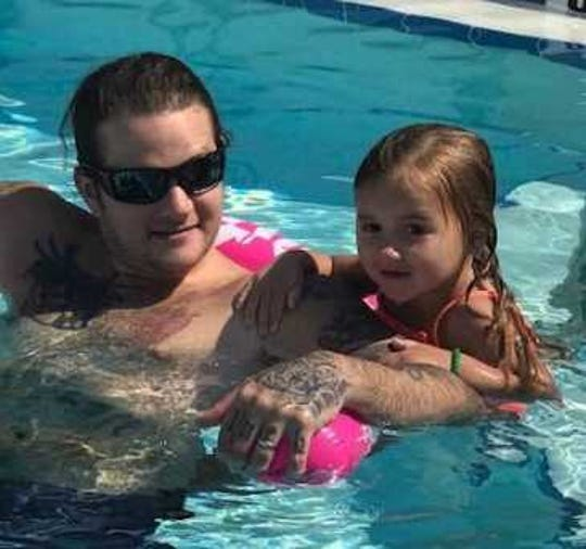 Chance Voegtli, left, and niece, Preslie, right