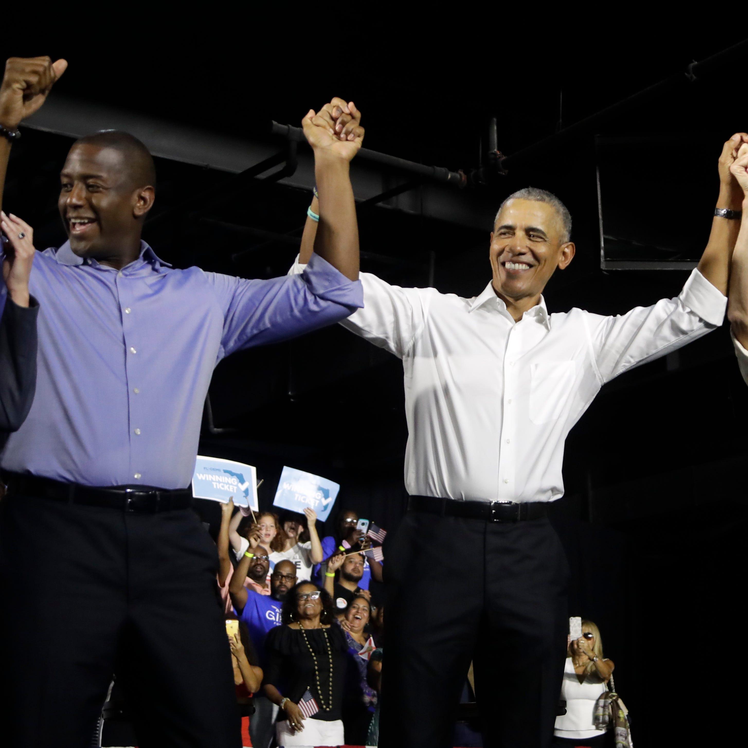 Barack Obama stumps for Democrats Andrew Gillum, Bill Nelson in Miami