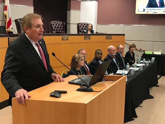 Urban Land Institute Panel Chairman John Walsh discusses recommendations for Port St. Lucie's Tradition Center for Commerce on Nov. 2, 2018.
