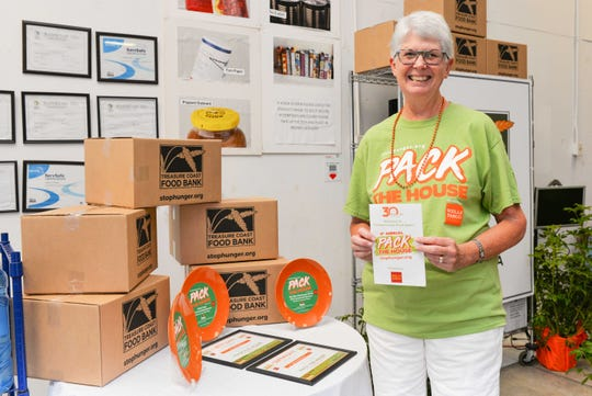Long-time volunteer Dickie Brooks at Treasure Coast Food Bank's fourth annual Pack The House event on Oct. 26-27.