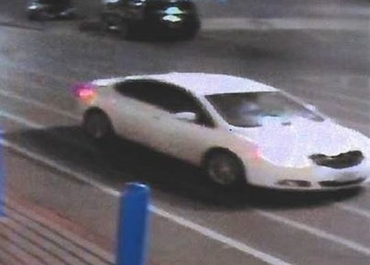 Security cameras filmed a car driven by indecent-exposure suspect on Aug. 8 outside a Walmart in East El Paso.