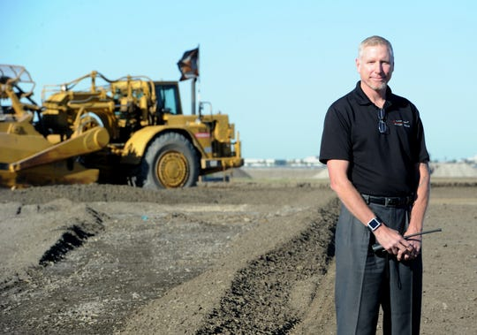 Todd McNamee, director of the airports for the county, is shown in this 2012 photo while he was overseeing a $4 million taxiway project at the Camarillo Airport.