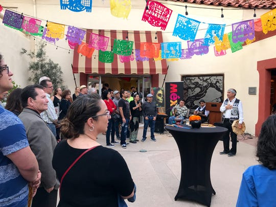 """People gather for the unveiling of the new """"Ayer y Todavia"""" catalog and an event to celebrate Dia de los Muertos at the Museum of Ventura County in this 2018 file photo."""