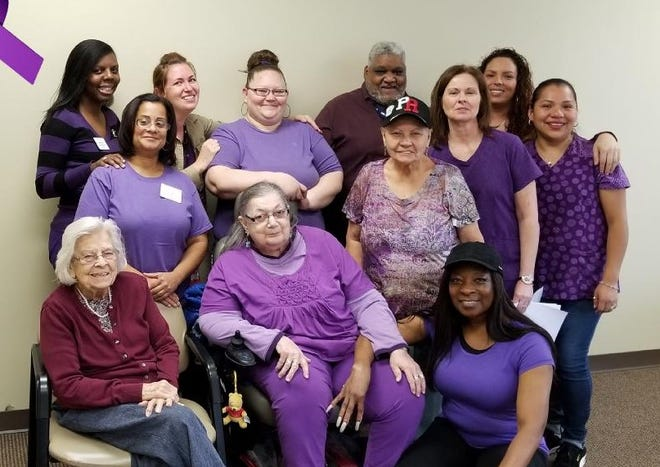 November is Alzheimer's Awareness Month. Staff and members of Active Day of Vineland dressed in purple to help raise awareness of this type of dementia which causes problems with memory, thinking and behavior.  For information visit ActiveDay.com or www.alz.org.