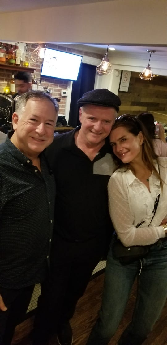 Piermont Mayor Bruce Tucker with Aidan Quinn and Brooke Shields at Basque Tapas in Piermont.