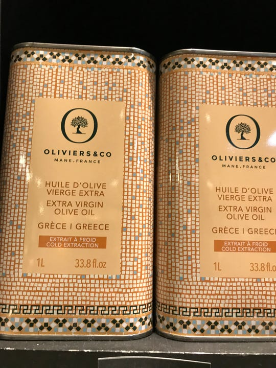 Extra Virgin Olive Oil from Oliviers & Co in Grand Central Terminal in NYC.
