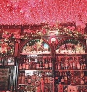 Some of the lights by the bar at Pete's Tavern on E. 18th Street. The bar has been in business since 1864.