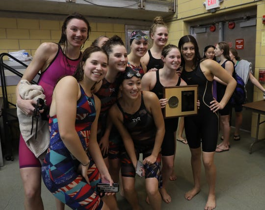 Sleepy Hollow, Edgemont & Irvington won the team title with a 294 score at the Section 1 girls swimming championships at Felix Festa Middle School in West Nyack on Thursday, November 1, 2018.