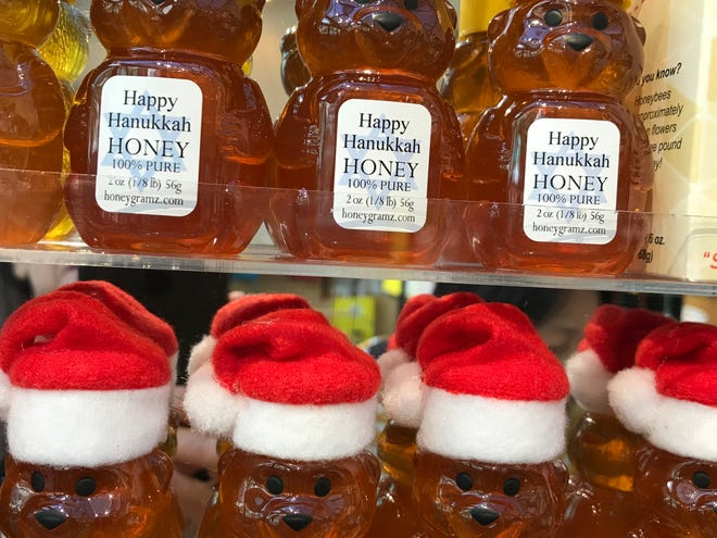 New York State Honey from HoneyGramz, located in the Bryant Park Bank of America Winter Village on the 40th Street side near the Carousel.