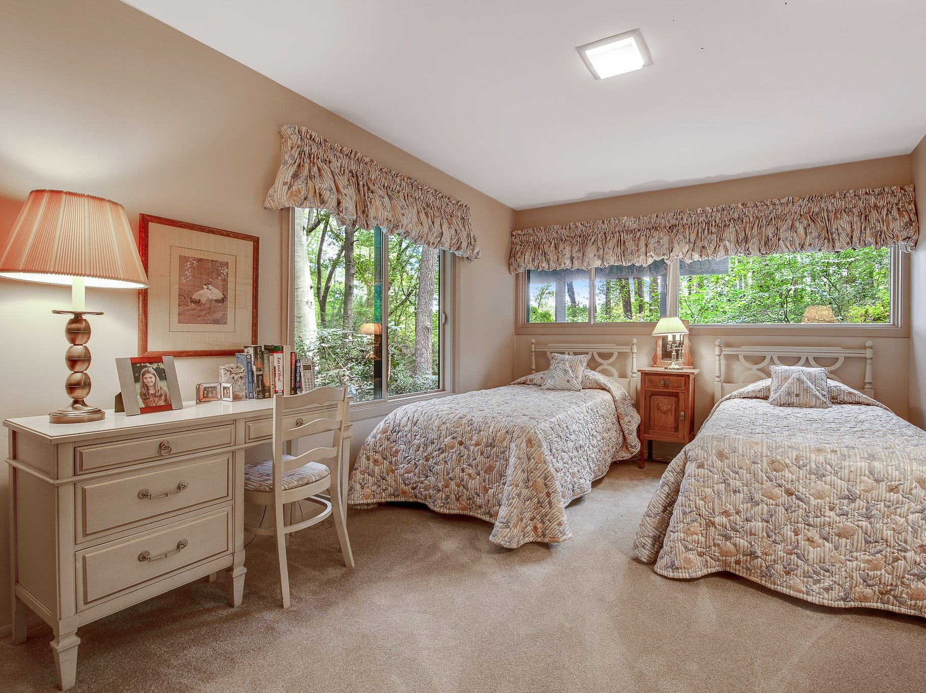 The house at 110 Thissell in Greenville has four bedrooms, all with great views.