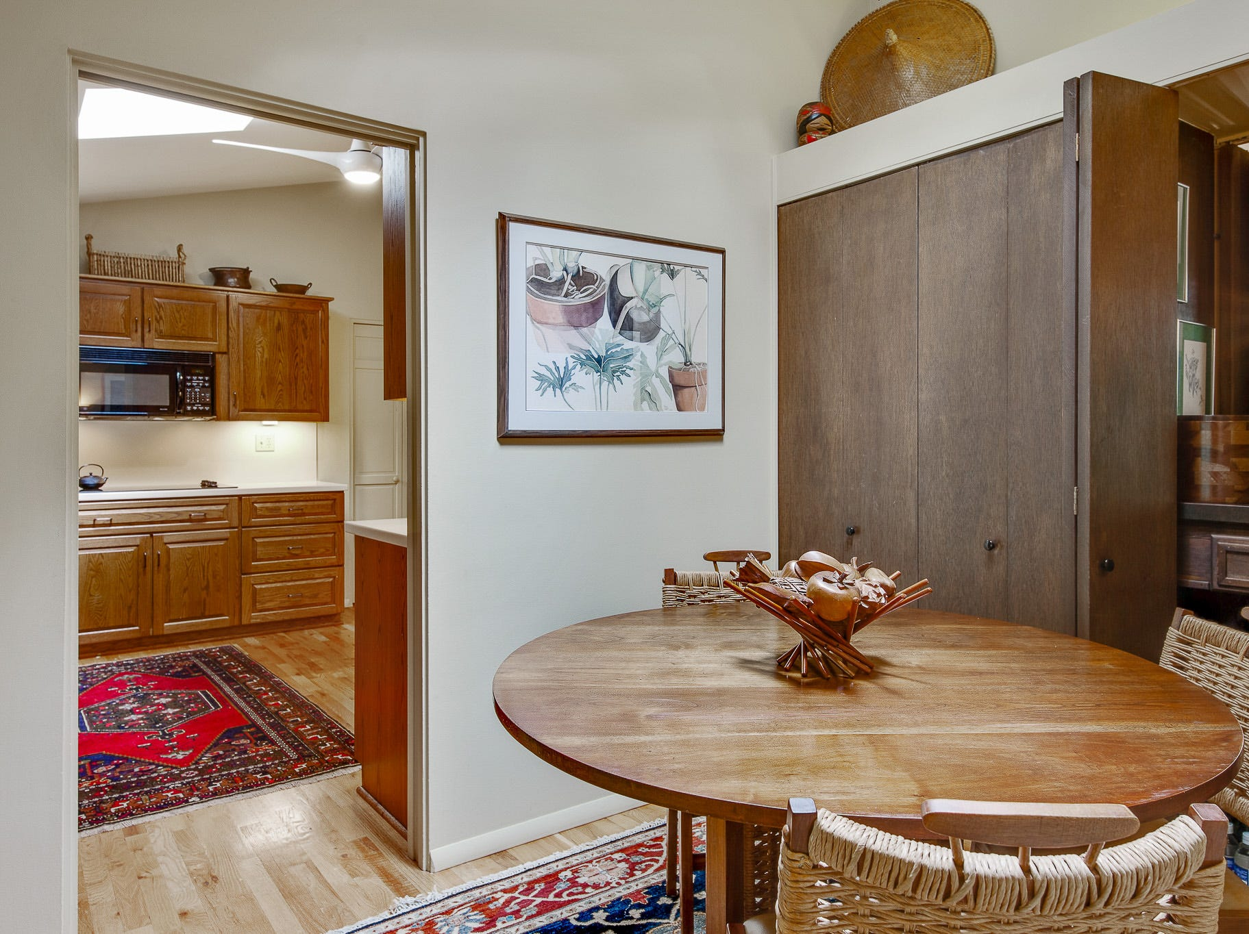 There's an informal dining area off the kitchen at 110 Thissell in Greenville.