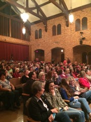 Hundreds gathered in MSU's Akin Auditorium to attend a rally with Sen. Ted Cruz of Texas Thursday night.